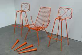 Old chairs, new powder coating
