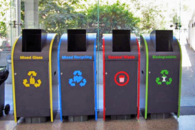 Recycling Station in various powder coated colours